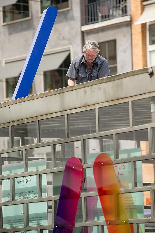 Opsætning af bogstaver på container i Århus