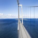 Storebæltsbroen - underside af kabelet