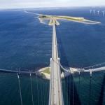 Storebæltsbroen - udsigt fra en af pylonerne