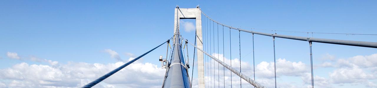 Storebæltsbroen set oppefra
